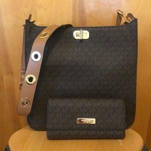 Michael Kors crossbody handbag and wallet